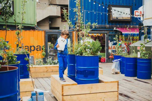 Community garden in Pop Brixton