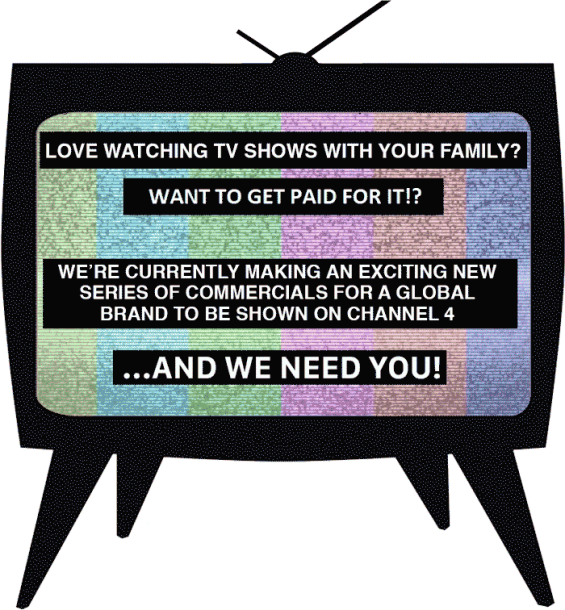 Casting flyer for channel 4 advert