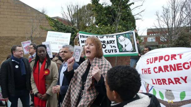 Harriet Harman and Sadiq Khan campaign
