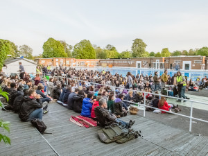 A screening from last year's festival at Brockwell Lido.  Photo by Pierre Chukwudi Alozie.