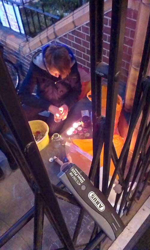 The candle-lit vigil begins