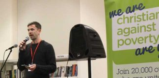 Jon Taylor speaking at launch of CAP debt service