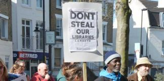 Library protesters in Herne Hill