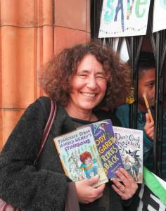 Francesca Simon, author of the Horrid Henry books, outside the Carnegie