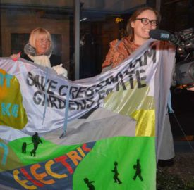 Cressingham Gardens residents protest at a council meeting