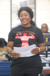 Pastor Lorraine Jones at the Lambeth Boxing Awards.