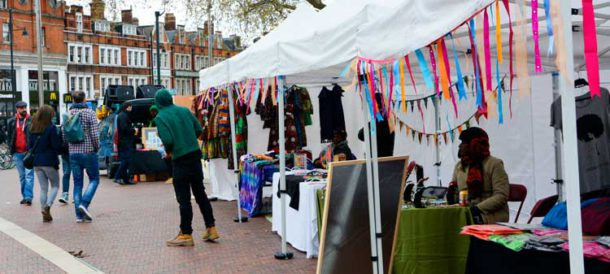 Diversity market at Windrush Square