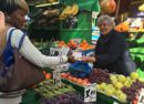 Brixton fruit and veg stall