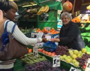 Brixton fruit and veg stall