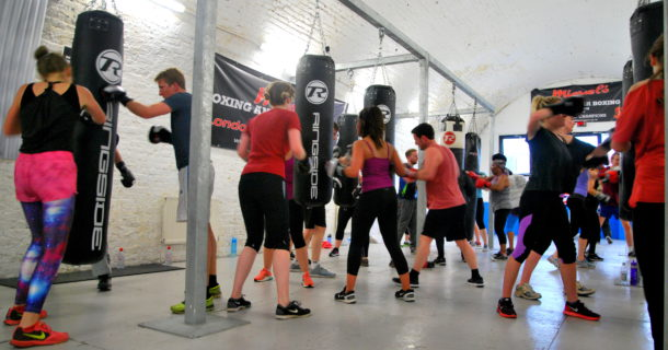 Mixed class in action at Miguel's Boxing Gym