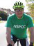 Stuart Horwood on his bike to raise money for NSPCC