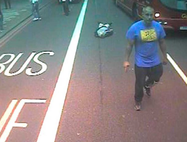 Mankiewicz is caught on camera walking away after leaving his victim in front of a moving bus