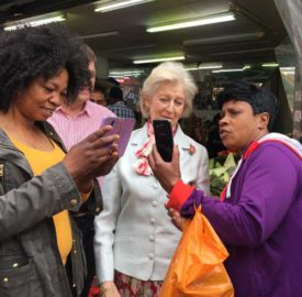 Selfies in Brixton Market with Princess Alexandra