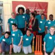 Michael Tippett's disability cricket team with the Mayor of Lambeth