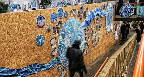 Pop Brixton hosts a school art exhibition