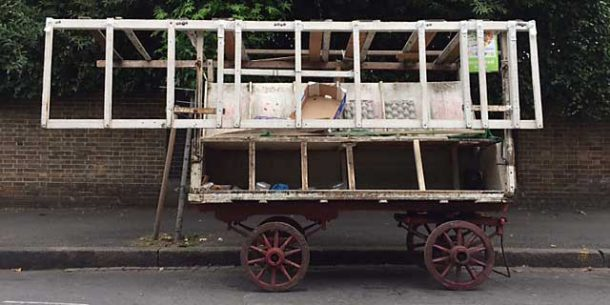 Tracey's barrow before restoration