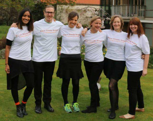 Six nurses from Trinity Hospice who will take the three mountain challenge