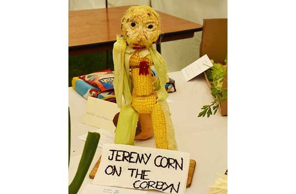 Vegetable carving – Jeremy Corn on the Corbyn
