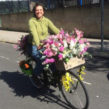 Lambeth country show floral ride. Bike decorated with flowers