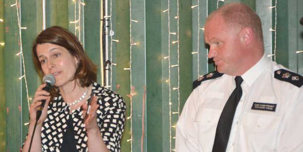 Helen Hayes, MP for Dulwich and West Norwood, and Lambeth borough police commander Richard Wood