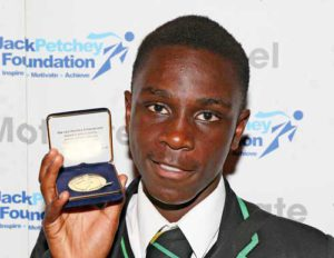 Kaye Rodney at The Jack Petchey foundation awards. Reno Mebrahitu was unable to attend.