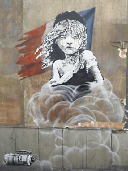 A tearful Liberty at Calais