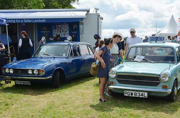Vintage police cars
