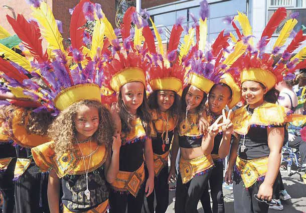 Sunshine Arts International children in carnival costume