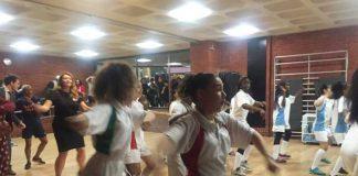 This Girl Can girls practice dance at Brixton Rec