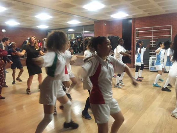 This Girl Can girls practice dance at Brixton Rec