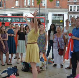 Singing for unity in Windrush Square