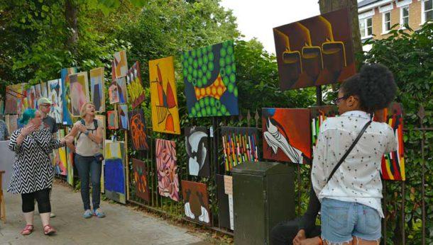 Image of Josephine Avenue during Urban Art Fair