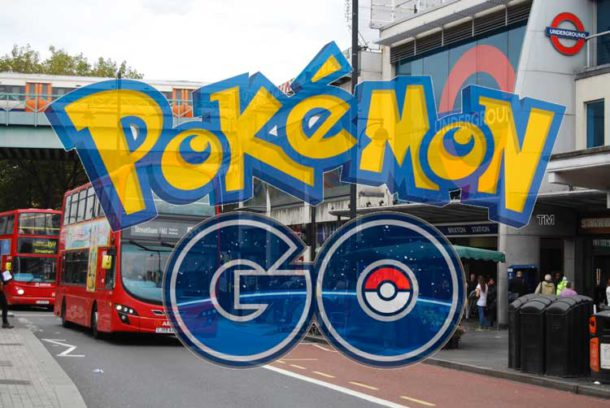 Pokemon Go logo plus Brixton
