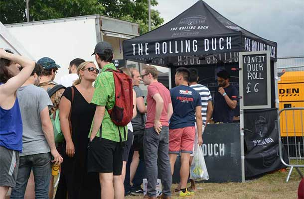 Confit duck rolls stall