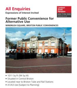 All Enquiries,WINDRUSH SQUARE, BRIXTON PUBLIC CONVENIENCES