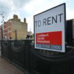 To rent sign on Windrush Square toilets