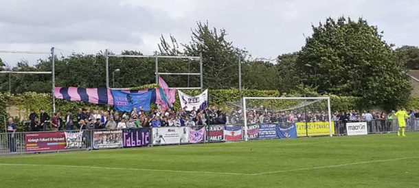Pink and Blue Army in full voice