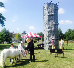 Pedro the pony and the climbing wall