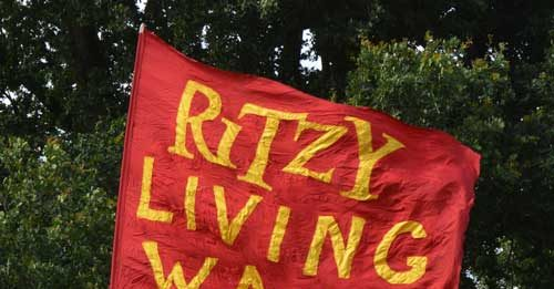 Ritzy workers' banner at the 2016 Lambeth Country Show