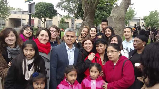 Support from London mayor Sadiq Khan