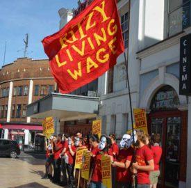 Ritzy strikers outside cinema