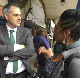 Jonathan Bartley, South Londoner and Green Party co-leader at the protest