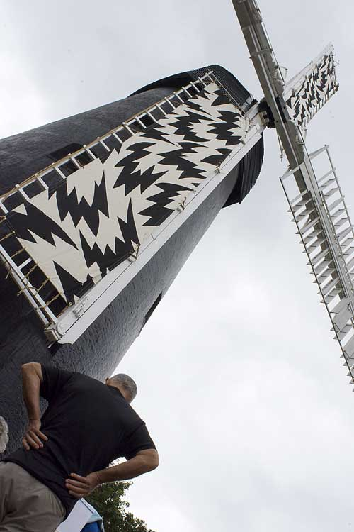 Brixton Windmill with its Eley Kishimoto sailcloths. picture: luke forsythe