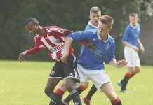 Joshua Bohui (left) in action for Brentford's youth team