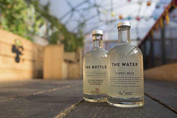 Bottles of sea water