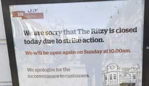 Ritzy closed notice