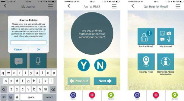 Brigg Sky app screengrabs