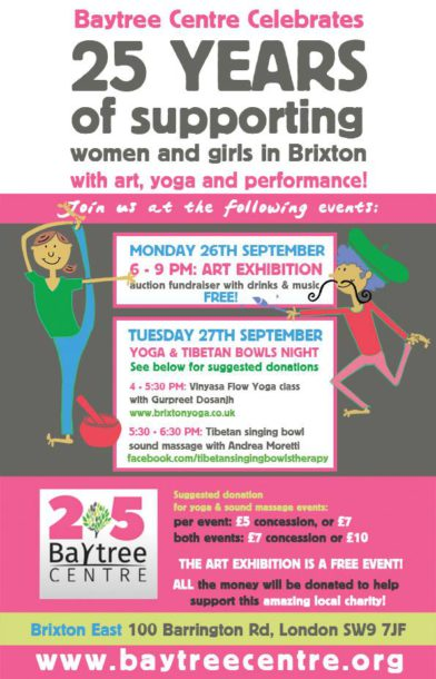 Baytree poster for fundraising activities