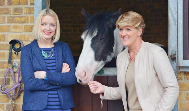 Clare Balding and Lauren Laverne meet Hobo