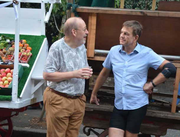 Brixton Society chair Bill Linskey (left) with Market Traders' Federation CEO Stuart Horwood